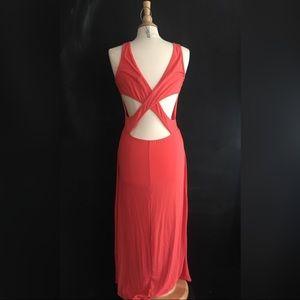 Women's Coral Maxi Dress